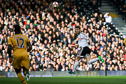 Tomas Kalas of Fulham heads the ball clear - Mandatory by-line: Jason Brown/JMP - 19/02/2017 - FOOTBALL - Craven Cottage - Fulham, England - Fulham v Tottenham Hotspur - Emirates FA Cup fifth round