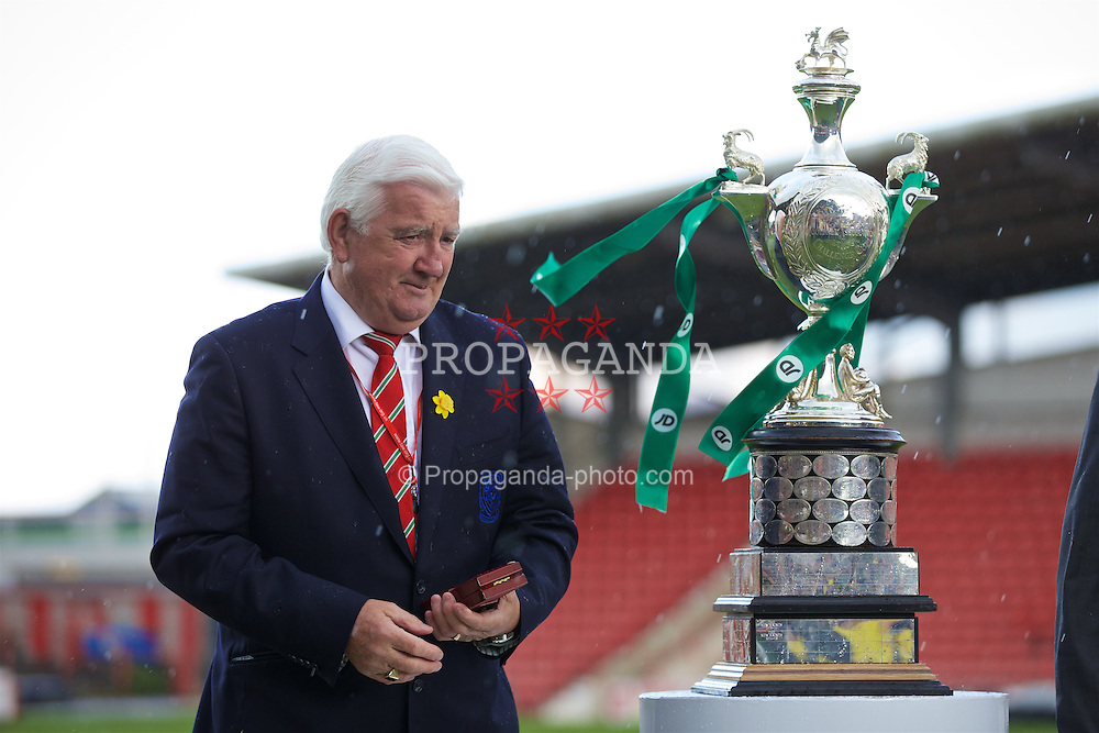 WREXHAM, WALES - Monday, May 2, 2016: FAW life vice president Phil Pritchard during the 129th Welsh Cup Final at the Racecourse Ground. (Pic by David Rawcliffe/Propaganda)