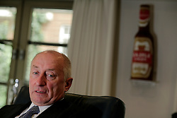 UK ENGLAND LONDON 18JUN08 - Graham Mackay, Group Managing Director of SABMiller Group reacts during an interview at the company's London headquarters. Graham Mackay joined SAB in 1978 and has held a number of senior positions in the SABMiller Group, including Executive Chairman of the beer business in South Africa. He was appointed SABMiller Group Managing Director in 1997 and Chief Executive of South African Breweries plc upon its listing on the London Stock Exchange in 1999...jre/Photo by Jiri Rezac ..© Jiri Rezac 2008..Contact: +44 (0) 7050 110 417.Mobile:  +44 (0) 7801 337 683.Office:  +44 (0) 20 8968 9635..Email:   jiri@jirirezac.com.Web:    www.jirirezac.com..© All images Jiri Rezac 2008 - All rights reserved.