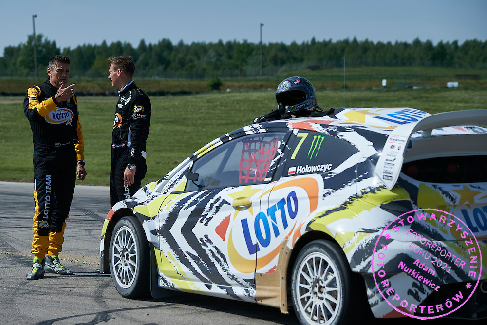 (L) Krzysztof Holowczyc and (R) Martin Kaczmarski both from Poland during training session on rally cross track on May 19, 2015 in Slomczyn, Poland<br /> <br /> Poland, Slomczyn, May 19, 2015<br /> <br /> Picture also available in RAW (NEF) or TIFF format on special request.<br /> <br /> For editorial use only. Any commercial or promotional use requires permission.<br /> <br /> Adam Nurkiewicz declares that he has no rights to the image of people at the photographs of his authorship.<br /> <br /> Mandatory credit:<br /> Photo by &copy; Adam Nurkiewicz / Mediasport