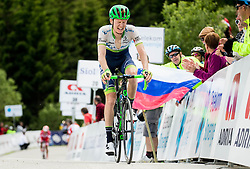 Second placed Haig Jack (Austrialia) of Orica GreenEdge at finish line during Stage 2 of 23rd Tour of Slovenia 2016 / Tour de Slovenie from Nova Gorica to Golte  (217,2 km) cycling race on June 17, 2016 in Slovenia. Photo by Vid Ponikvar / Sportida