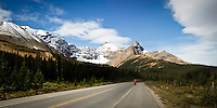 The Icefields Parkway between Banff and Jasper National Parks in the Canadian Rocky Mountains.  This highway is one of the most scenic mountain roads anywhere. There are so many places where you can simply stop and make a breathtaking image.....©2010, Sean Phillips.http://www.RiverwoodPhotography.com