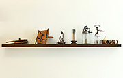 interior, shelf with old utensils