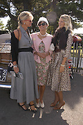 Susan Clayton, Lady Alexandra Gordon-Lennox and Sutetra Atkinson, Goodwood Revival Meeting. Saturday 17 September 2005.  ONE TIME USE ONLY - DO NOT ARCHIVE  © Copyright Photograph by Dafydd Jones 66 Stockwell Park Rd. London SW9 0DA Tel 020 7733 0108 www.dafjones.com