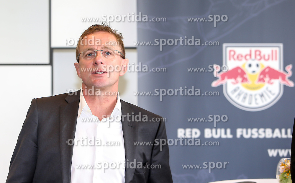 05.09.2014, Red Bull Akademie, Liefering, AUT, Red Bull Fußball und Eishockey Akademie, Liefering, Eröffung, im Bild Ralf Rangnick (Red Bull Fussball) // during the Openeing of the Red Bull Soccer and Icehockey Academy Opening at the Red Bull Akademie in Liefering, Austria on 2014/09/05. EXPA Pictures © 2014, PhotoCredit: EXPA/ Roland Hackl