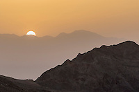 Sunrise over Eilat Mountains in Israel