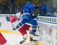 SPISSKA NOVA VES, SLOVAKIA - APRIL 15: Sweden vs Czech Republic preliminary round 2017 IIHF Ice Hockey U18 World Championship. (Photo by Steve Kingsman/HHOF-IIHF Images)