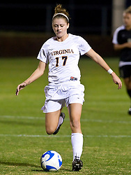 Virginia Cavaliers midfielder/forward Sinead Farrelly (17) in action against Army.  The #16 ranked Virginia Cavaliers defeated the Army Black Knights 2-0 in the first round of NCAA Division 1 Women's Soccer Tournament at Klockner Stadium on the Grounds of the University of Virginia in Charlottesville, VA on November 14, 2008.