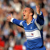 St Johnstone v Gretna...14.10.06<br />Paul Sheerin celebrates making it 1-1<br /><br />Picture by Graeme Hart.<br />Copyright Perthshire Picture Agency<br />Tel: 01738 623350  Mobile: 07990 594431