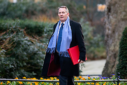 © Licensed to London News Pictures. 30/01/2018. London, UK. International Trade Secretary Liam Fox arriving in Downing Street to attend a Cabinet meeting this morning. Photo credit : Tom Nicholson/LNP