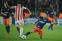 FOOTBALL - UEFA CHAMPIONS LEAGUE 2012/2013 - GROUP STAGE - GROUP B - MONTPELLIER HSC v OLYMPIACOS - 24/10/2012 - PHOTO SYLVAIN THOMAS / DPPI - REMY CABELLA (MHSC) / LEANDRO GRECO (OFC)