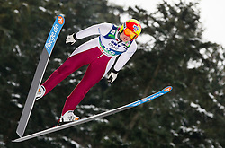 Abby Hughes of USA during Normal Hill Individual Competition at FIS World Cup Ski jumping Ladies Ljubno 2012, on February 11, 2012 in Ljubno ob Savinji, Slovenia. (Photo By Vid Ponikvar / Sportida.com)