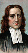 John Wesley (1703-1791) English non-conformist preacher. Founder of  Methodism. Chromolithograph 1924.