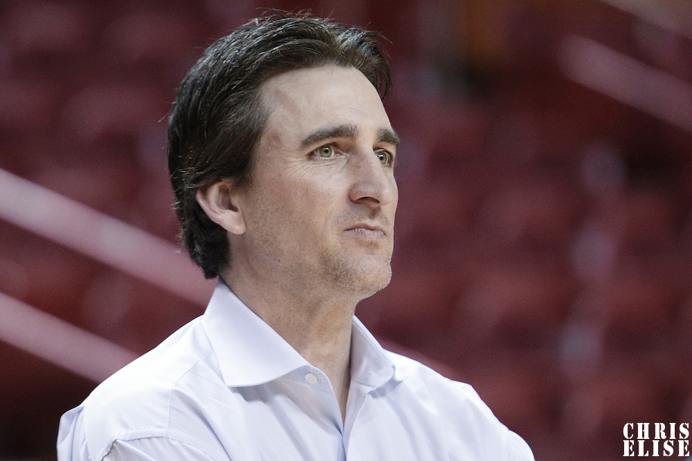 12 March 2010: Chicago Bulls coach Vinny  Del Negro is seen prior to the Miami Heat 108-95 victory over the Chicago Bulls at the AmericanAirlines  Arena, in Miami, Florida, USA.