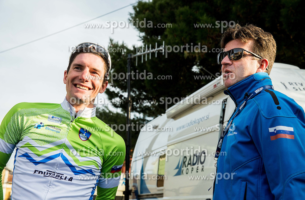 POLANC Jan (SLO) of Slovenian National Team  and Ales Kalan after the UCI Class 1.2 professional race 4th Grand Prix Izola, on February 26, 2017 in Izola / Isola, Slovenia. Photo by Vid Ponikvar / Sportida