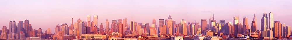 Super high Resolution stitched panorama of midtown and uptown Manhattan, New York City, NY, USA