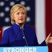 Democratic presidential candidate Hillary Clinton speaks during a campaign stop at the Frontline Outreach Center in Orlando, Fla., on Wednesday, Sept. 21, 2016. (Alex Menendez via AP)