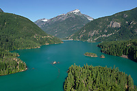 Diablo Lake, Ross Lake Recreation Area, North Cascades Washington.
