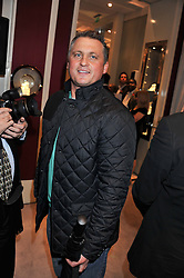 DARREN GOUGH at a reception to unveil the ISAF World Match Racing Tour Championship Trophy at Garrard, 24 Albemarle Street, London W1 on 7th November 2011.