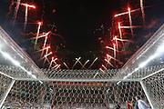 Belo Horizonte_MG, Brasil.<br /> <br /> Jogadores de Atletico e Sao Paulo disputam partida valida pela primeira rodada da copa libertadores da america, no estadio arena Independencia em Belo Horizonte, Minas Gerais.<br /> <br /> Atletico Mineiro and Sao Paulo players  dispute valid match in The Copa Libertadores da America, Liberators of America Cup, the Arena Independencia in Belo Horizonte, Minas Gerais.<br /> <br /> Foto: BRUNO MAGALHAES / NITRO