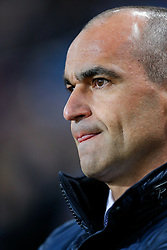 Everton Manager Roberto Martinez looks on from the dugout - Mandatory byline: Rogan Thomson/JMP - 01/03/2016 - FOOTBALL - Villa Park Stadium - Birmingham, England - Aston Villa v Everton - Barclays Premier League.