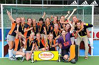hockey, seizoen 2010-2011, 10-06-2011, amstelveen, Finale Nationale Shell Schoolhockeycompetitie 2011, Meisjes Oud College Hageveld Heemstede - vd Capellen SG Zwolle 4-2, Winnaar Meisjes Oud College Hageveld Heemstede