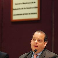 Toluca, Mex.- David Korenfeld Federman, Secretario de Agua y Obra Publica, durante la reunion con miembros de la Camara Mexicana de la Industria de la Construccion (CMIC), donde le pidieron que la camara pueda participar en los proyectos que el gobierno tiene en la ciudad . Agencia MVT / Javier Rodriguez. (DIGITAL)<br /> <br /> <br /> <br /> <br /> <br /> <br /> <br /> <br /> <br /> <br /> <br /> <br /> <br /> <br /> <br /> NO ARCHIVAR - NO ARCHIVE