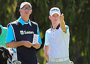 CAPE TOWN, SOUTH AFRICA, Monday 27 February 2011, Brandon Stone (right) with hid father, Kevin, during the Sanlam SA Amateur Championship held at the Mowbray Golf Club..Photo by Roger Sedres/ImageSA