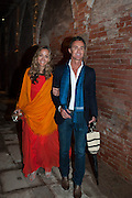 DANIELA FEDERICI; ANTONY TODD, Andrea Dibelius of the EMDASH Foundation hosts party to celebrate the Austrian Pavilion and artist Mathias Poledna at the Venice Biennale. Palazzo Barbaro, Venice. 30 May 2013<br /> <br /> <br /> Venice. Venice Bienalle. 28 May 2013