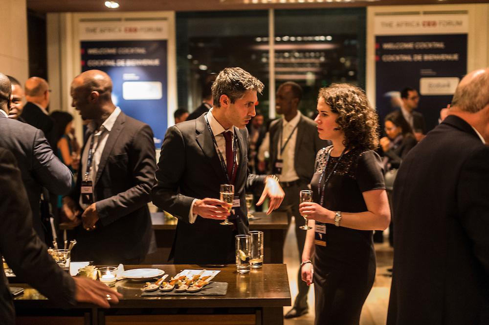 Africa CEO Forum, Soirée d'ouverture + coktail de bienvenue