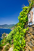 Shrine on the Sentiero Azzurro (Blue Trail) near Vernazza, Cinque Terre, Liguria, Italy