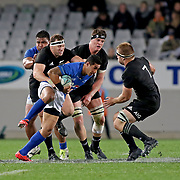 As evident by the score, after the first 15 minutes of the first half, Manu Samoa could not offensively challenge the All Blacks.  The New Zealand All Blacks defeated Manu Samoa 15's 83-0 at Eden Park, Auckland, New Zealand.  Photo by Barry Markowitz, 6/16/17