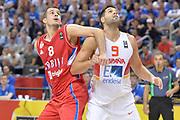 DESCRIZIONE : Berlino Berlin Eurobasket 2015 Group B Spain Serbia <br /> GIOCATORE :  Nemanja Dangubic<br /> CATEGORIA :  Tagliafuori<br /> SQUADRA : Serbia<br /> EVENTO : Eurobasket 2015 Group B <br /> GARA : Spain Serbia <br /> DATA : 05/09/2015 <br /> SPORT : Pallacanestro <br /> AUTORE : Agenzia Ciamillo-Castoria/I.Mancini<br /> Galleria : Eurobasket 2015 <br /> Fotonotizia : Berlino Berlin Eurobasket 2015 Group B Spain Serbia
