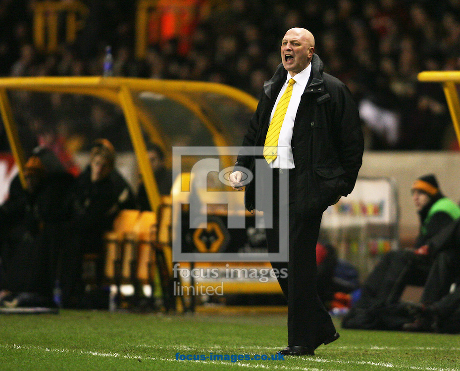 Wolverhampton - Tuesday February 3rd, 2009: Bryan Gunn, manager of Norwich City during the Coca Cola Championship match at Molineaux, Wolverhampton. (Pic by Chris Ratcliffe/Focus Images)