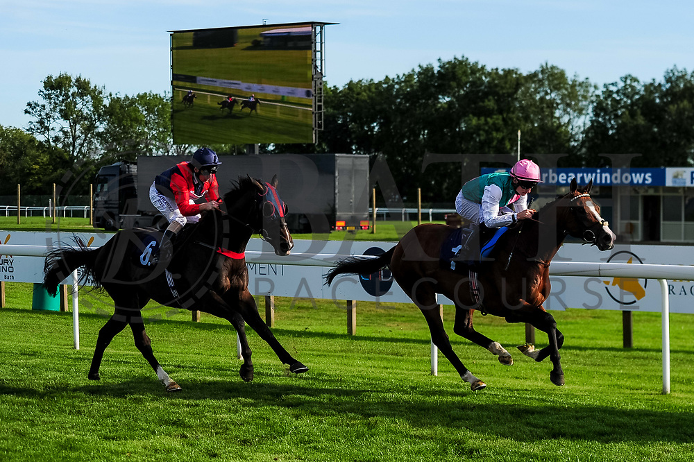 Tell William ridden by Martin Dwyer and trained by Marcus Tregoning in the John Herman Handicap race. Sash ridden by Adam McNamara and trained by Amanda Perrett in the John Herman Handicap race.  - Ryan Hiscott/JMP - 14/09/2019 - PR - Bath Racecourse - Bath, England - Race Meeting at Bath Racecourse