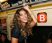 NEW YORK - SEPTEMBER 08:  (EXCLUSIVE ACCESS) Singer Beyonce Knowles rides the B train in the New York City subway on her way to a CD signing, September 8, 2006 in New York City.  (Photo by Frank Micelotta/Getty Images)