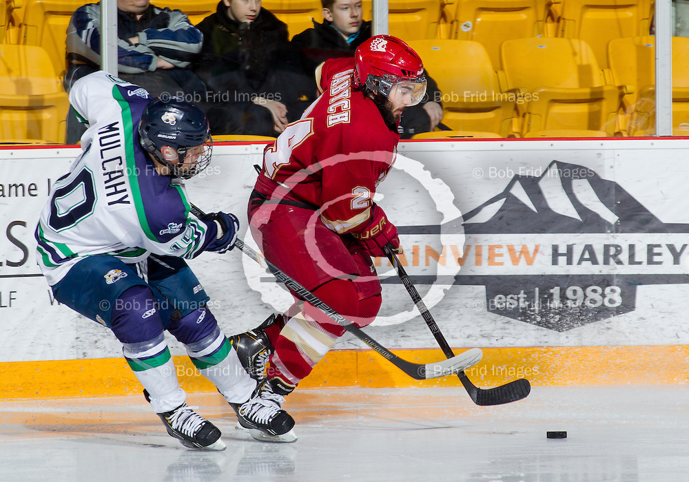 29 December 2013:  Jaret Babych (24) of the Chiefs  during a game between the Chilliwack Chiefs and the Surrey Eagles at Prospera Centre, Chilliwack, BC.    ****(Photo by Bob Frid - All Rights Reserved 2013): mobile: 778-834-2455 : email: bob.frid@shaw.ca ****