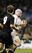 Twickenham, GREAT BRITAIN, James HASKELL,  looking for support, during the second half of the Investic Challenge, England vs New Zealand, Autumn International at Twickenham Stadium, Surrey on Sat 29.11.2008 [Photo, Peter Spurrier/Intersport-images]