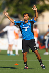 July 20, 2011; Santa Clara, CA, USA;  San Jose Earthquakes forward Chris Wondolowski (8) warms up before the game against the Vancouver Whitecaps at Buck Shaw Stadium.