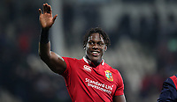Rugby Union - 2017 British & Irish Lions Tour of New Zealand - Crusaders vs. British & Irish Lions<br /> <br /> Maro Itoje of The British and Irish Lions waves to the fans at AMI Stadium [Rugby League Park], Christchurch.<br /> <br /> COLORSPORT/LYNNE CAMERON