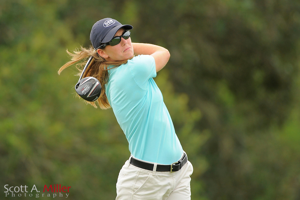 Cydney Clanton during the second round of the Symetra Tour Championship at LPGA International on Sept. 27, 2013 in Daytona Beach, Florida. <br /> <br /> <br /> &copy;2013 Scott A. Miller