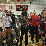 07 October 2017:  The San Diego State women's volleyball team hosted Air Force Saturday night and won 3-1 at Peterson Gym. www.sdsuaztecphotos.com