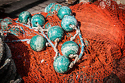 Fishing net with buoys
