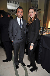LUCA SANTORO and FRANCESCA VERSACE at a dinner in honour of Dennis Basso in celebration of his new boutique in Harrods held at Claridge's, Brook Street, London on 15th October 2009.