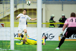 Filip Stojkovic of Cukaricki  vs Kenan Horic of Domzale during 1st Leg football match between NK Domzale (SLO) na FC Cukaricki (SRB) in 1st Round of Europe League 2015/2016 Qualifications, on July 2, 2015 in Sports park Domzale,  Slovenia. Photo by Vid Ponikvar / Sportida