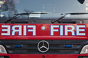 The front of a London Fire Brigade engine,