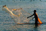 MEXICO, PACIFIC, TEPIC fishing in marshes near San Blas