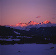 View to Grays & Torreys Peaks From Frisco, Colorado, Winter
