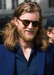 London, July 9th 2017. Members of American band The Lumineers at the BBC's Broadcasting House in London where they appeared on the Andrew Marr Show. PICTURED: Wesley Schultz
