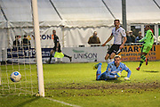 Forest Green Rovers Keanu Marsh-Brown(7) shoots at goal ,1-3 during the Vanarama National League match between Bromley FC and Forest Green Rovers at Hayes Lane, Bromley, United Kingdom on 7 January 2017. Photo by Shane Healey.